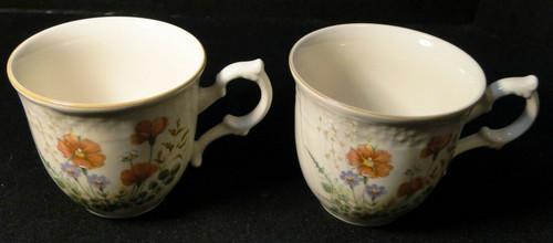 Mikasa Margaux Tea Cups D1006 Fine Ivory Set of 2 Excellent