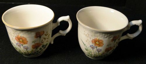 Mikasa Margaux Tea Cups D1006 Fine Ivory Set of 2 | DR Vintage Dinnerware and Replacements