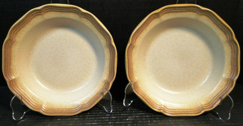 "Mikasa Whole Wheat Soup Bowls 8 1/4"" E8000 Set of 2 | DR Vintage Dinnerware Replacements"