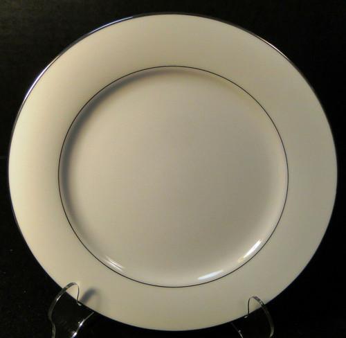 "Noritake Envoy Salad Plate 8 1/4"" 6325 White Platinum Trim Excellent"
