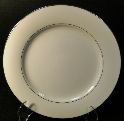 "Noritake Envoy Salad Plate 8 1/4"" 6325 White Platinum Trim 