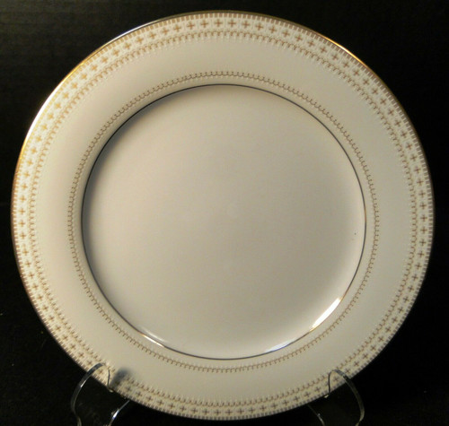 "Noritake Barrington Salad Plate 8 1/4"" 2030 Gold Trim Excellent"