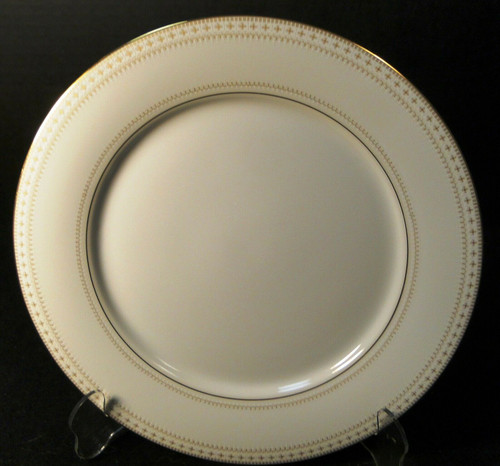 "Noritake Barrington Dinner Plate 10 1/2"" 2030 Gold Trim Excellent"