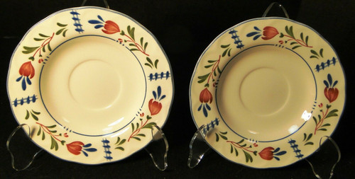Nikko Avondale Saucers Provisional Designs Japan Set of 2 | DR Vintage Dinnerware and Replacements