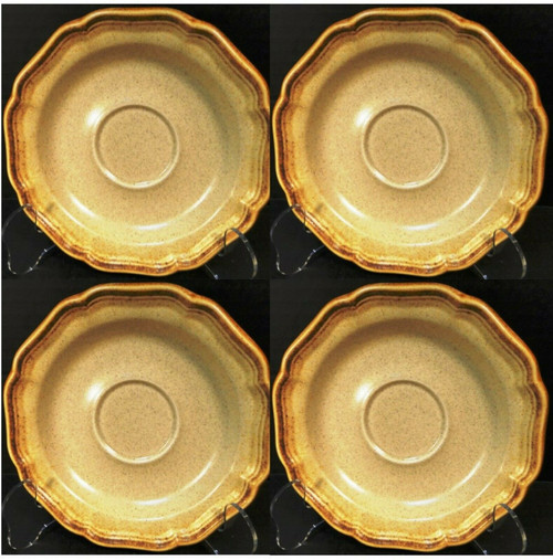 Mikasa Whole Wheat Saucers E8000 Set of 4 | DR Vintage Dinnerware Replacements