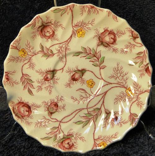Copeland Spode Rosebud Chintz Demitasse Saucer Vintage England Excellent