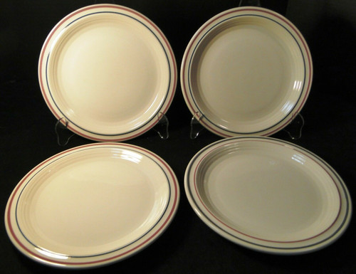 """Sterling China Luncheon Plates 9"""" STR72 Vintage Restaurant Ware Set 4 