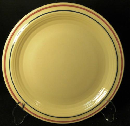 "Sterling China Lunch Plate 9"" STR72 Pink Blue Stripe Restaurant Ware Excellent"