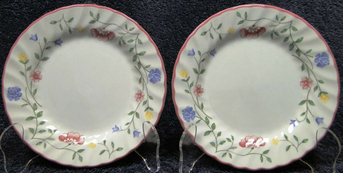 """Johnson Brothers Summer Chintz Bread Plates 6 1/4"""" England Set of 2 Excellent"""