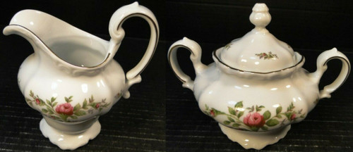 Johann Haviland Bavaria Moss Rose Creamer Sugar with Lid | DR Vintage Dinnerware and Replacements