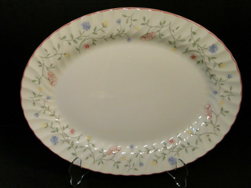 "Johnson Brothers Summer Chintz Oval Serving Platter 12"" Floral Mark 