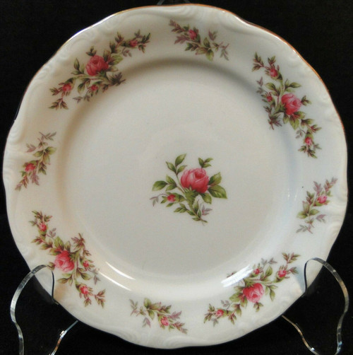 "Johann Haviland Bavaria Moss Rose Bread Plate 6 1/4"" Excellent"