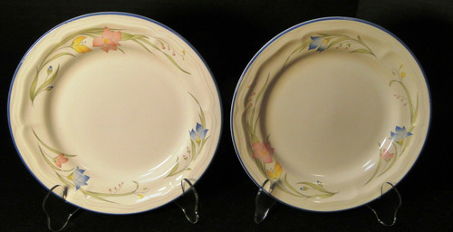 "French Garden Salad Plates 7 3/4"" Genuine Stoneware Thailand Set of 2 