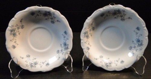 Johann Haviland Bavaria Blue Garland Saucers Set of 2 | DR Vintage Dinnerware Replacements