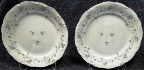 "Johann Haviland Blue Garland Bavarian Salad Plates 7 1/2"" Set of 2 | DR Vintage Dinnerware Replacements"