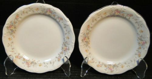 "Johann Haviland Floral Splendor Bread Plates 6"" Bavarian Set of 2 Excellent"