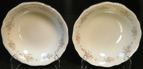 "Johann Haviland Floral Splendor Soup Bowls 7 1/2"" Bavarian Set of 2 