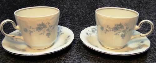 Johann Haviland Bavaria Blue Garland Tea Cup Mug Saucer Sets 2 | DR Vintage Dinnerware Replacements