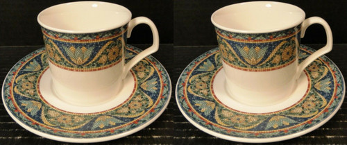Mikasa San Marco Cup Saucer Sets Ultra Ceram DX 006 2 Sets | DR Vintage Dinnerware and Replacements