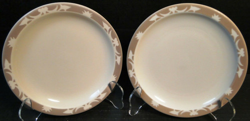 "Syracuse Nutmeg Grill Bread Plates 6 1/2"" Restaurant Ware Set of 2 