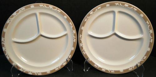 "Syracuse Nutmeg Grill Dinner Plates 9 5/8"" Restaurant Ware Set of 2 Excellent"