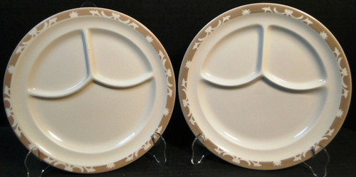 """Syracuse Nutmeg Grill Dinner Plates 9 5/8"""" Restaurant Ware Set of 2 