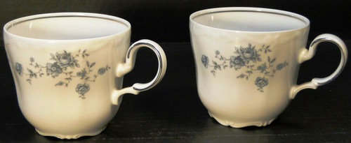 Johann Haviland Blue Garland Bavaria Cups Mugs Set of 2 Excellent
