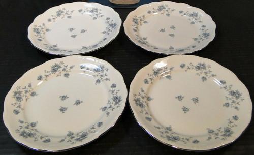 "Johann Haviland Blue Garland Bavarian Dinner Plates 10"" Set of 4 | DR Vintage Dinnerware Replacements"