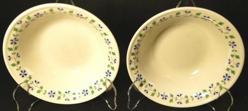 "Iroquois Periwinkle Cereal Bowls 6"" Henry Ford Museum Collection Set 2 Excellent"