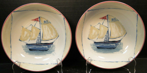Mikasa Bar Harbor Soup Bowls 8 1/4 SL105 Salad Portugal Set of 2 | DR Vintage Dinnerware and Replacements