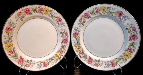 "Royal Jackson Fine China Maytime Salad Plates 8"" Set of 2 EXCELLENT"