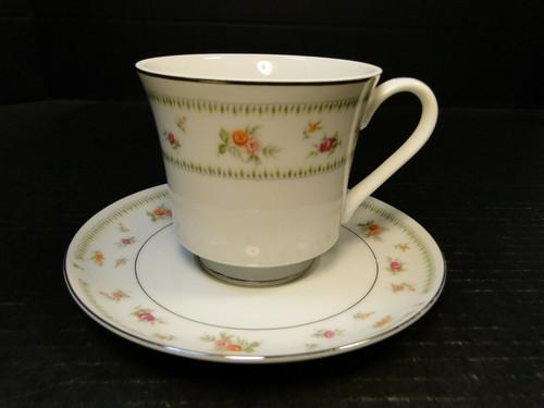 Abingdon China Tea Cup Saucer Set Fine Porcelain Japan Excellent