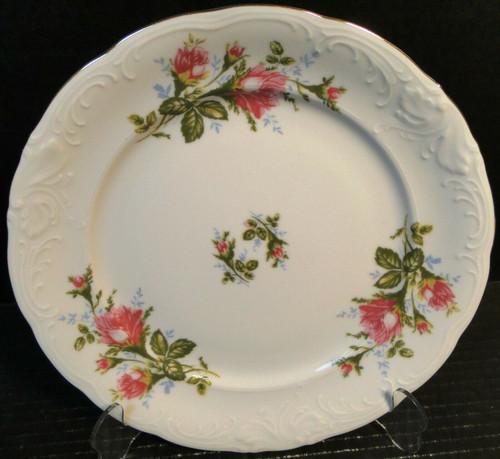 "Royal Kent Poland Moss Rose RKT8 Dinner Plate 10"" Excellent"