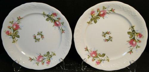 "Royal Kent Poland Moss Rose RKT8 Dinner Plates 10"" Set of 2 Excellent"