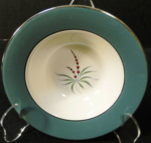 "Homer Laughlin Cavalier Lupine Berry Bowl 6"" Green Band 