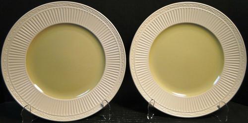 "Mikasa Italian Sage Dinner Plates 11 1/4"" DD911 White Green Set of 2 Excellent"