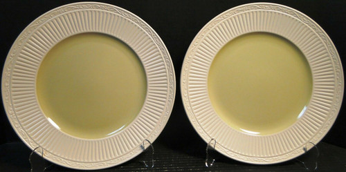 "Mikasa Italian Sage Dinner Plates 11 1/4"" DD911 White Green Set of 2 