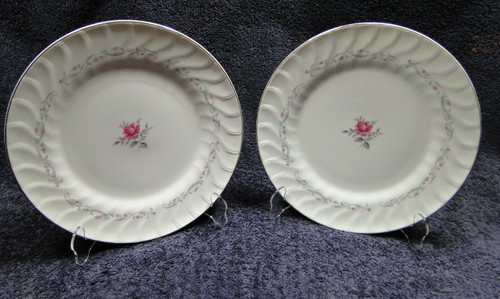 "Fine China of Japan Royal Swirl Dinner Plates 10 1/4"" Set of 2 