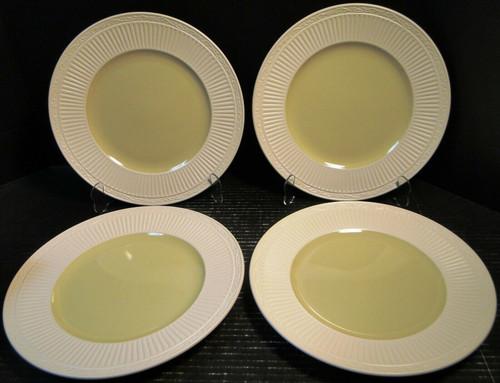"Mikasa Italian Sage Dinner Plates 11 1/4"" DD911 White Green Set of 4 Excellent"