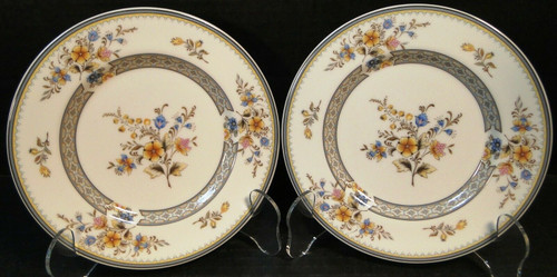 "Mikasa Chippendale Bread Plates 6 1/2"" A1-190 Japan Set of 2 Excellent"