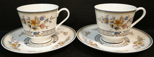 Mikasa Chippendale Footed Tea Cup Saucer Sets A1-190 Japan 2 Excellent