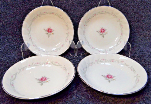 "Fine China of Japan Royal Swirl Berry Fruit Bowls 5 5/8"" Set of 4 