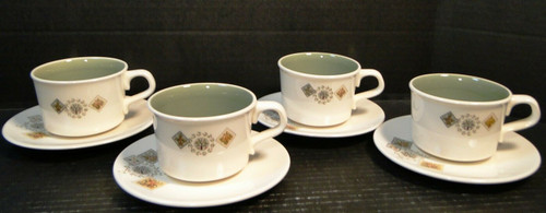 Taylor Smith Taylor Brocatelle Tea Cup Saucer Sets Ever Yours 4 | DR Vintage Dinnerware and Replacements