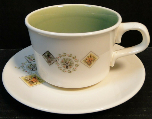Taylor Smith Taylor Brocatelle Tea Cup Saucer Set Ever Yours | DR Vintage Dinnerware and Replacements
