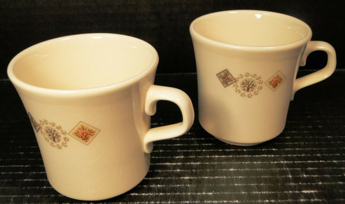 Taylor Smith Taylor Brocatelle Coffee Mugs Ever Yours Set of 2 Excellent