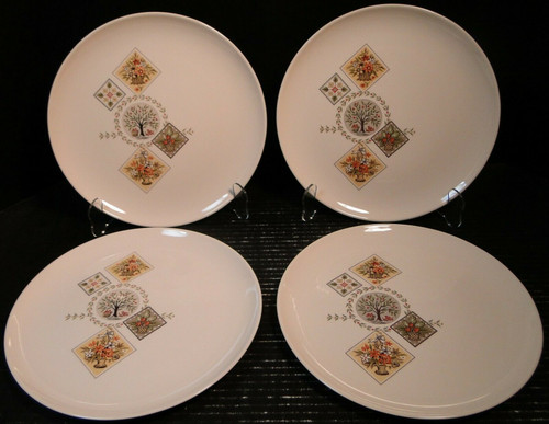 """Taylor Smith Taylor Brocatelle Bread Plates 6 1/2"""" Ever Yours Set of 4 