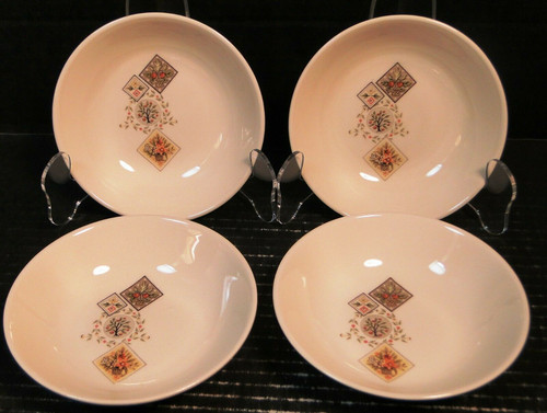"""Taylor Smith Taylor Brocatelle Berry Bowls 5 1/4"""" Ever Yours Set of 4   DR Vintage Dinnerware and Replacements"""