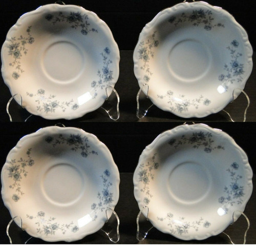 Johann Haviland Bavaria Blue Garland Saucers Set of 4 Excellent