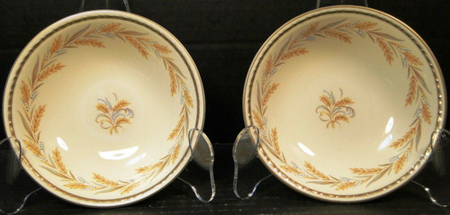 """Homer Laughlin Georgian Kingston Berry Bowls 5 1/4"""" G3459 Set of 2 