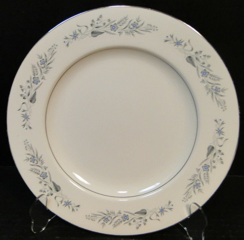 "Homer Laughlin Cavalier CV125 Dinner Plate 10"" White Floral Excellent"